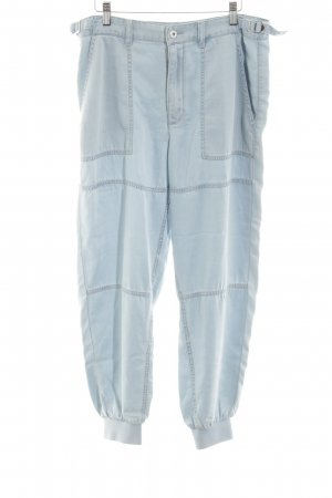 Diesel Pantalón de pinza alto azul look casual