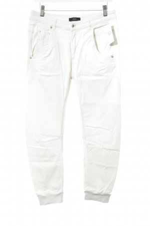 Diesel Peg Top Trousers natural white casual look