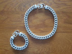 Diesel Kette & Armband Set silber