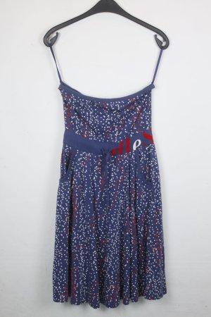 Diesel Kleid Gr. S blau mit weißen und roten Punkten (18/5/392)