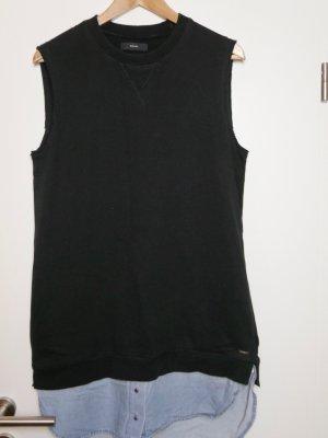 Diesel Vestido tipo blusón negro-azul celeste Algodón