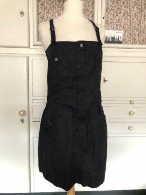 Diesel Kleid, schwarz, Leinen & Baumwolle, Gr.S