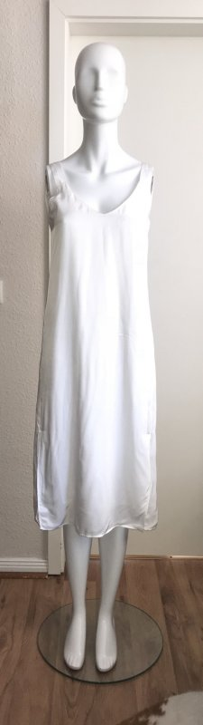 Diesel Kleid Sommerkleid 38 weiß lang