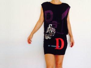 Diesel Kleid vintage schwarz weite Ärmel XS