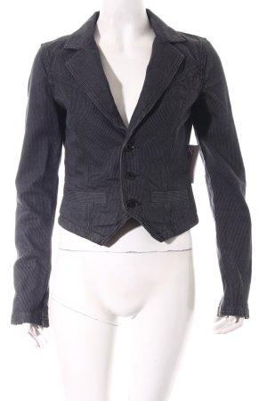 Diesel Kurz-Blazer grau-schwarz Streifenmuster Street-Fashion-Look