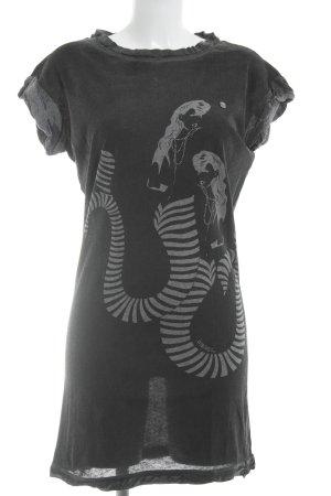 Diesel Kurzarmkleid anthrazit-grau Motivdruck Street-Fashion-Look