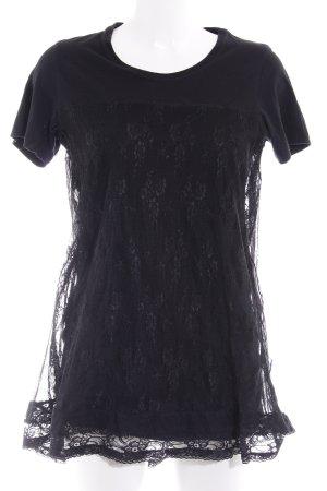 Diesel Kurzarmkleid schwarz schlichter Stil