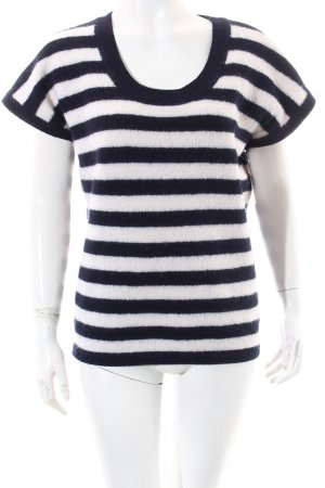 Diesel Short Sleeve Sweater dark blue-natural white striped pattern casual look