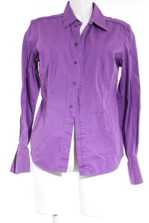 Diesel Shirt met lange mouwen lila zakelijke stijl
