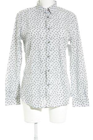 Diesel Langarmhemd weiß-grau abstraktes Muster Casual-Look