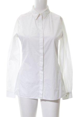 Diesel Langarmhemd wollweiß klassischer Stil