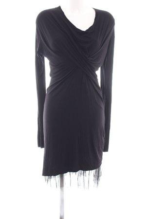 Diesel Langarmkleid schwarz Elegant