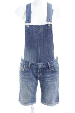 Diesel Latzhose stahlblau Jeans-Optik