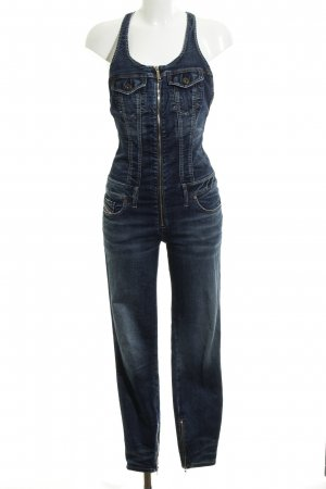 Diesel Salopette denim blu scuro look pulito
