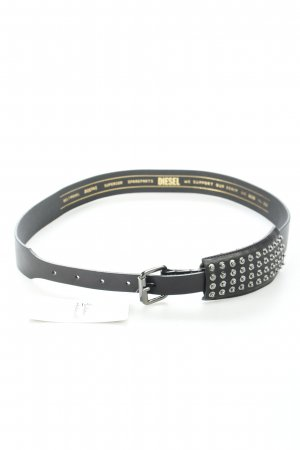 "Diesel Leather Belt ""Bidepas"" black"