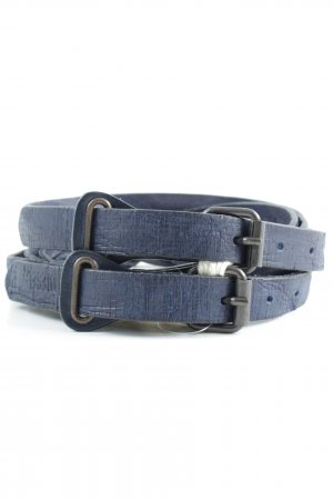 Diesel Leather Belt dark blue casual look