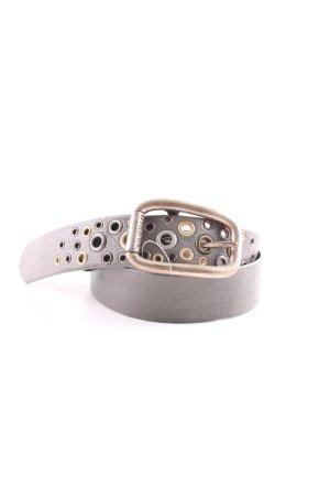 Diesel Cintura di pelle grigio chiaro stile casual