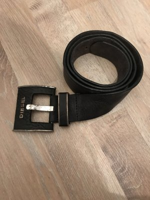 Diesel Lederguertel schwarz 90