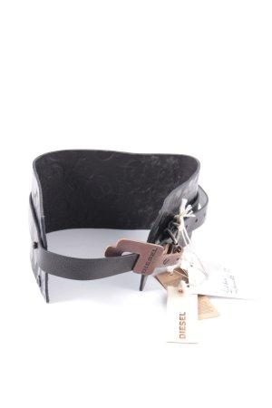 Diesel Ledergürtel schwarz extravaganter Stil
