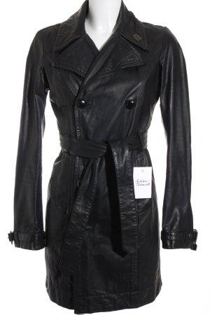 Diesel Lederjacke schwarz Elegant
