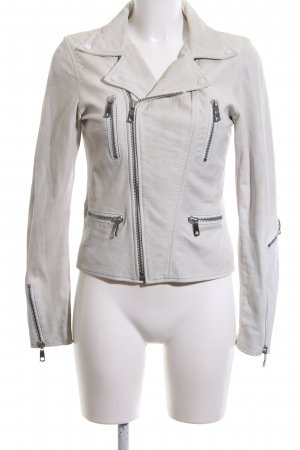 Diesel Giacca in pelle bianco sporco stile casual