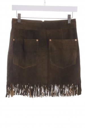 Diesel Lederrock braun Country-Look