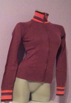 Diesel leichte Strickjacke Gr. S Bordeaux Orange