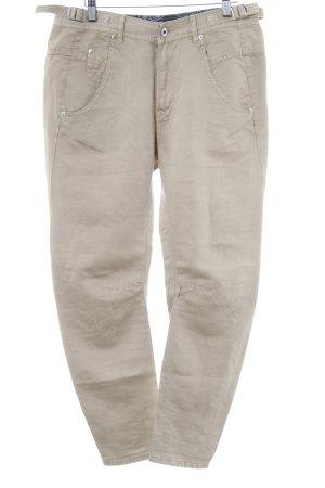 Diesel Pantalone di lino beige stile semplice