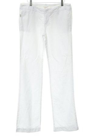 Diesel Pantalone di lino bianco stile casual