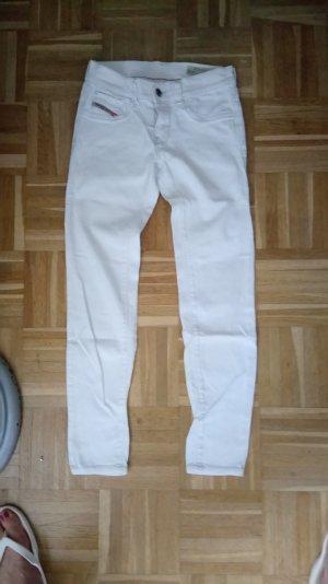 Diesel Livier-Ankle Jeans / Weiße/ Gr.W25 (XS)  Low Waist Slim Jeans