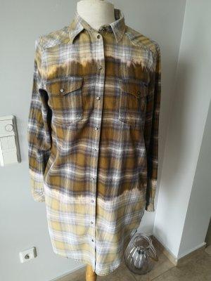 Diesel Longbluse Langes Hemd Gr L Hemdkleid