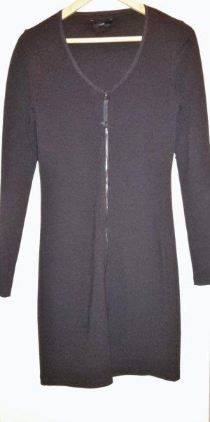 DIESEL Longjacke Kleid schwarz Strech mit Reißverschluss