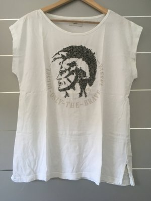 Diesel Longshirt mit Perlen silber/schwarz Gr. M/L