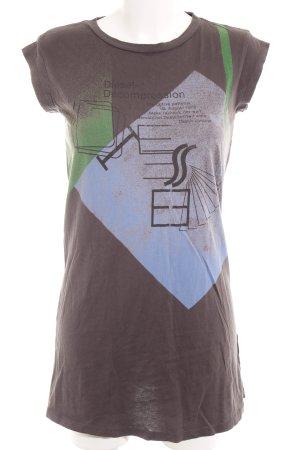 Diesel Camicia lunga caratteri stampati stile casual