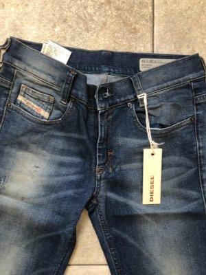 Diesel Industry Pantalon pattes d'éléphant bleuet coton