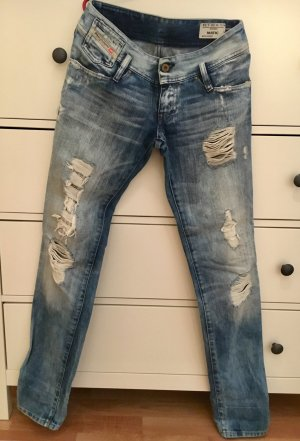 Diesel Low Waist Jeans Destroyed Look