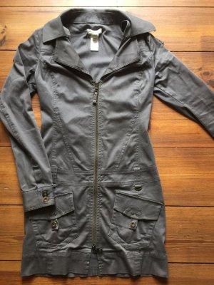 Diesel: Mantel grau, jeans-artiger Stoff, Gr. S/ 36/ 34