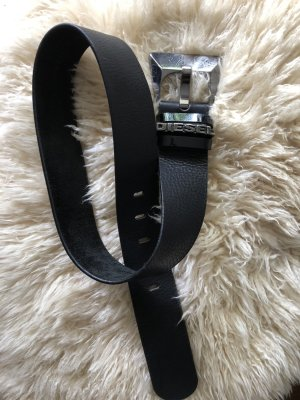 Diesel Leather Belt black