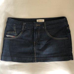 Diesel Industry Denim Skirt dark blue cotton