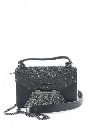 Diesel Mini Bag black-silver-colored elegant