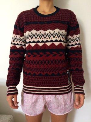 Diesel Norweger Pullover, 100% Wolle, Gr. M