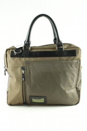 Diesel Laptop bag green grey-black business style