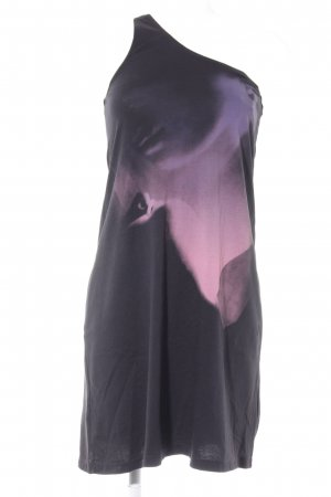 Diesel One-Shoulder-Kleid schwarz-rosa Beach-Look