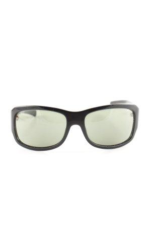 Diesel ovale Sonnenbrille schwarz Business-Look