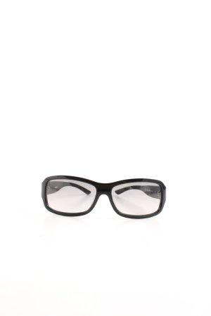 Diesel ovale Sonnenbrille schwarz Casual-Look