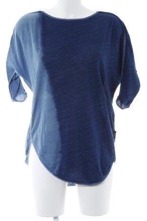 Diesel Oversized Shirt blau-himmelblau Farbverlauf Casual-Look