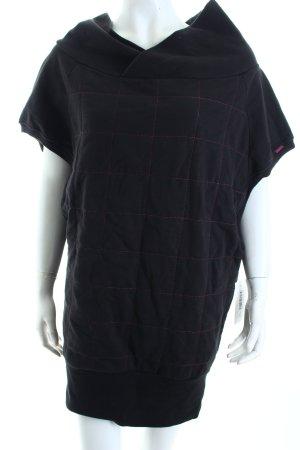 Diesel Oversized Shirt schwarz-pink Karomuster Boyfriend-Look
