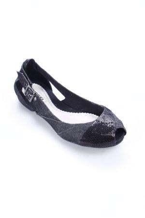 Diesel Peeptoe Ballerinas schwarz Casual-Look