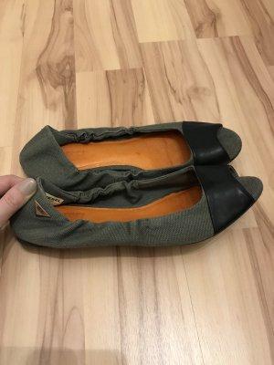 Diesel Peep Toe Ballerinas khaki