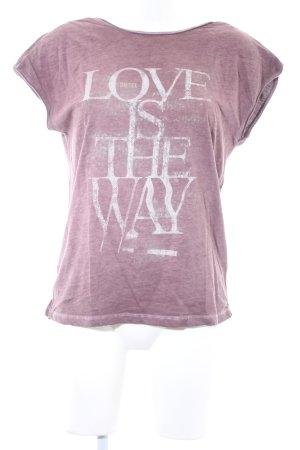 Diesel Camiseta estampada lila grisáceo letras impresas estilo skater